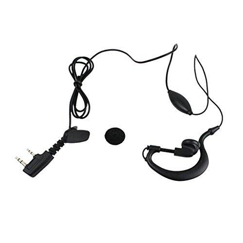 MagiDeal 2-Pin k Tipo Colgando Auricular con Micrófono para Baofeng Walkie Talkie