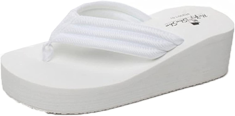 Women's Slip On Sandals Soft Platform Wedge Flip Flops Casual Fashion Walking Thongs Nonslip Summer Beach Shoes