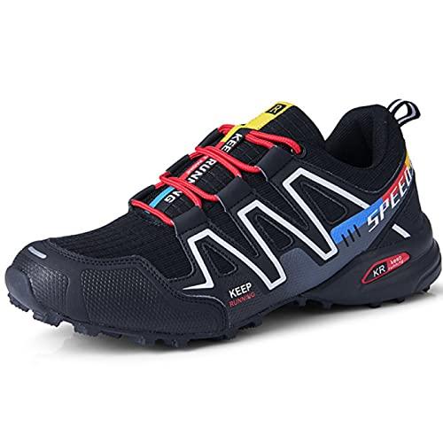 WYUKN Calzado de Ciclismo para Hombre,Zapatillas de Bicicleta Informales para Mujer Zapatillas de Bicicleta Ultraligeras Sin Bloqueo,B-44EU