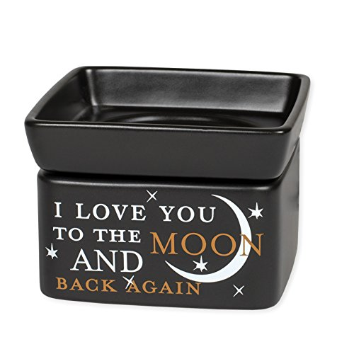 Love You to The Moon Electric 2 in 1 Jar Candle and Wax and Oil Warmer