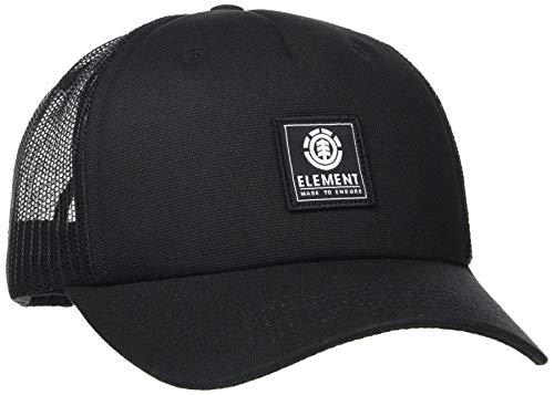 Element Icon Mesh - Cappellino Snapback da Uomo Cappellino Snapback, Uomo, all Black, Taglia Unica