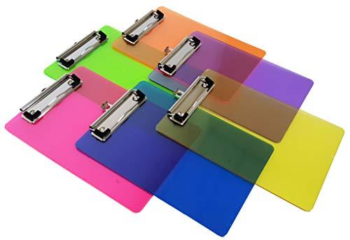 """Mini Multicolored Clipboards, by Dondor (9"""" x 6"""" Inches, Multicolored)"""