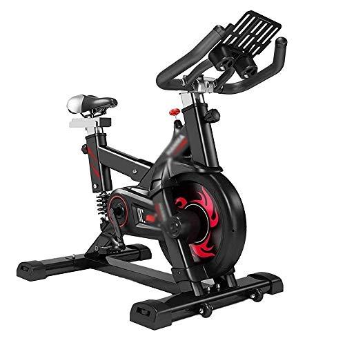 WJFXJQ Ciclismo Indoor Bike con Volante Tranquilo y Duradero, Titular de la Tableta y la Consola LCD en el hogar Bicicleta estacionaria Ejercicios cardiovasculares