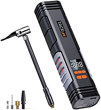 Tacklife X1 Rechargeable Cordless Tire Inflator with Digital Display