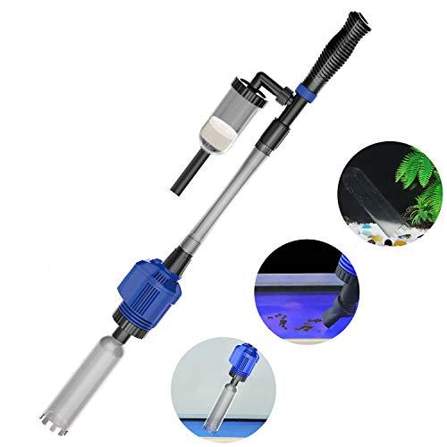 NICREW Automatic Gravel Cleaner, Electric Aquarium Cleaner, 2 in 1 Sludge Extractor for Medium and...