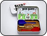 Beer Darts Starter Kit, 2 steel-tipped darts, Party Game Rules, Unique Wooden Stocking Stuffer Gift