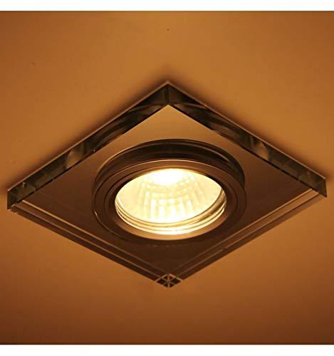 KOSILUM - Spot verre encastrable carré design - Lexa - Lumière Blanc Chaud Eclairage Salon Chambre Cuisine Couloir - 1 x 50W - - GU10 - IP20