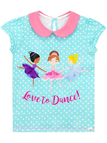 Harry Bear Camiseta de Manga Corta para niñas Princesa Bailarina Azul 2-3 Años