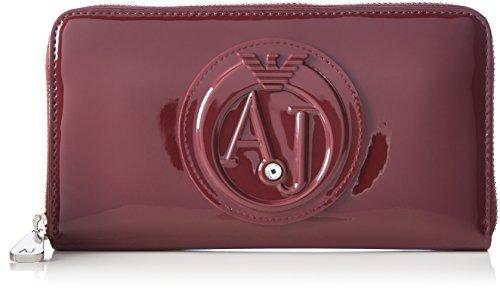 Armani Jeans Portafoglio - Portafogli Donna, Rot (Burgundy), 10x2x19 cm (B x H T)