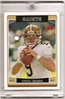 2006 Topps Drew Brees New Orleans Saints Football Card (1st year with Saints)- Mint Condition - In Protective Acrylic Display Case!!