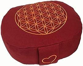 maylow Yoga mit Herz Hochwertiges Yogakissen Meditationskissen Balance oval Reisekissen Bio-Dinkelspelzen H: 10 cm