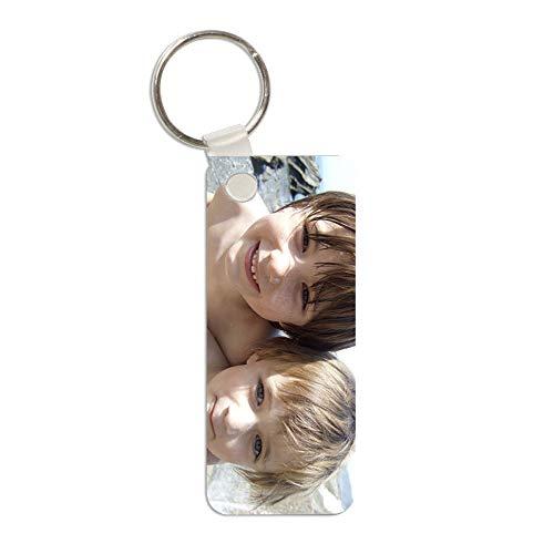 24 Personalisierter Schlüsselanhänger für Herren mit eigenen Fotos (doppelseitig)