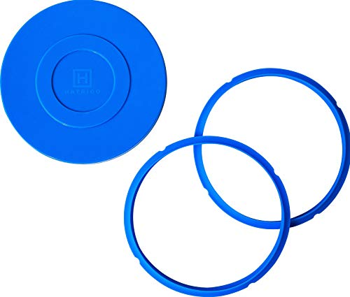 3-Pack Compatible Instant Pot Sealing Ring for 6 Qt [3qt 8qt avail] and Instant Pot Silicone Lid Cover, Instapot Accessory Airtight Lid and Rings for Instant Pot Accessories (2 Rings, 1 Lid)