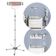 re-changing bordsstrålkastare FeelWell 2in1, ståvärmare och väggfäste, 2 värmesteg, timer, lutningsskydd, testad enligt medicinsk standard