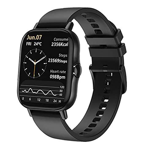 Smart Watch-Touch-Screen-Sport-Tracker.Smart-Uhr 1.78inch Voll-Touch-Bildschirm Bluetooth-Aktivität Tracker-Armband mit Anrufbenachrichtigung schwarz