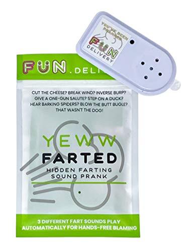 FUN delivery Yeww Farted: Hands Free Hidden Annoying Farting Joke Gag Prank Fart Sound