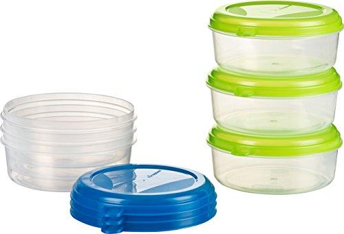 Kigima Frischhaltedose Gefrierbehälter 6X 1l rund blau und grün