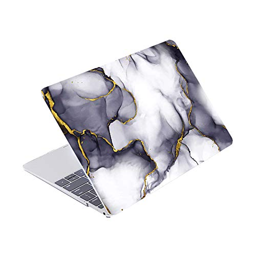 SDH Newest for MacBook Pro 13 inch Case 2020 Release Touch Bar & ID Model: A2338/A2289/A2251, Plastic Pattern Hard Shell & Laptop Sleeve Bag & Keyboard Cover Skin 4 in 1 Bundle, Stone Grain 6