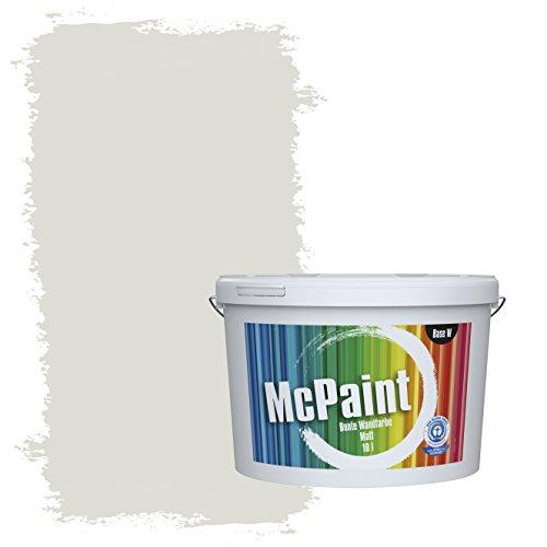 McPaint Bunte Wandfarbe Seidengrau - 10 Liter - Weitere Graue Farbtöne Erhältlich - Weitere Größen Verfügbar