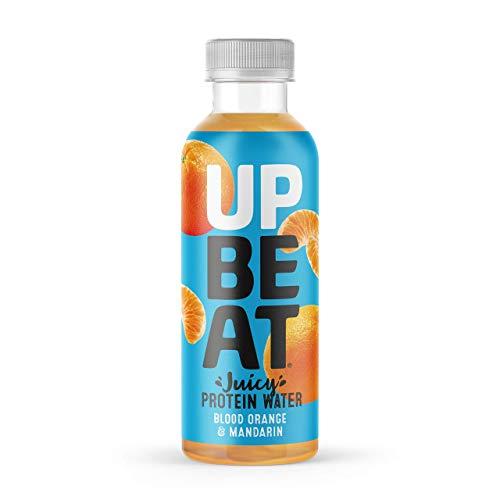 UPBEAT Juicy Protein Water 12x 500ml | 12g Protein, Zero Sugar, Energising B Vitamins | Blood Orange & Mandarin