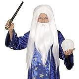 WIDMANN 74600peluca Mago con barba, One size , color/modelo surtido