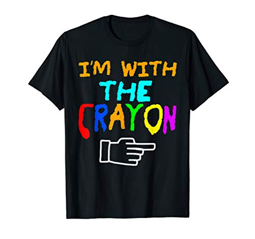 I'm With The Crayon Left Easy Halloween T-Shirt