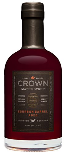Crown Maple Organic Grade A Maple Syrup, Bourbon Barrel Aged, 12.7 Fl. Oz (Pack of 1)