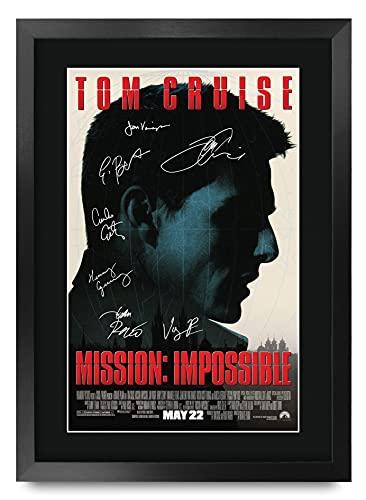 HWC Trading Mission Impossible A3 Encadré Signé Image Autographe Imprimé Impression Photo Cadeau D'Affichage pour Tom Cruise Ventilateurs Affiche du Film