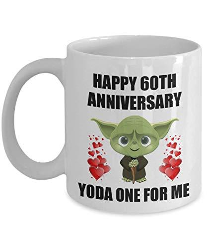 N\A 60 Aniversario de Bodas de 60 años Regalos para él Hombres Esposo Sus Mujeres Esposa Parejas Pareja Amante Presente Star Wars Jedi Yoda Uno para mí Divertida Broma de Broma