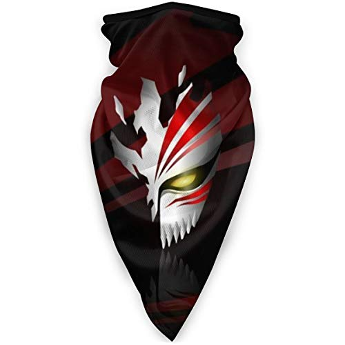 Anime Bleach Hollow Mask Unsex Balaclava Dust Protection Headwear Neck Gaiter Face Cover for Motorcycle,Outdoors,Rave.