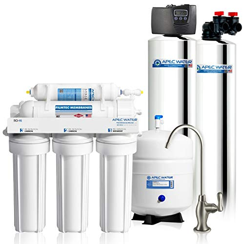 APEC Water Systems TO-SOLUTION-15 Whole House Water Filter, Salt Free Water Softener & Reverse Osmosis Drinking Water Filtration Systems for 3-6 Bathrooms