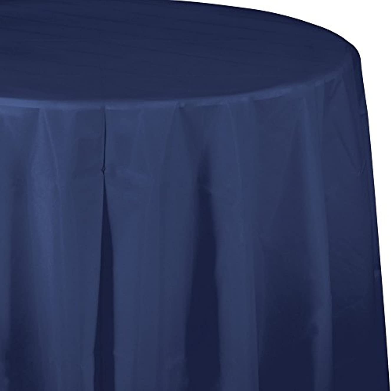 Creative Converting Tissue Poly Table Covers Octy Round Paper Tablecloth, 3 Ply 82 Inch x 82 Inch For 60 Inch Round Tables - 3 Pack - Various Colors and Quantities  (Navy, 2 - 3 Packs)