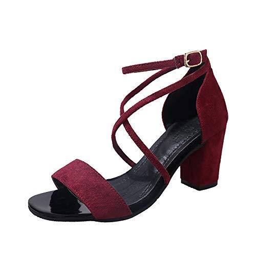 Vrouwen hak sandalen Vintage Open teen smalle band hoge hak sandalen vrouwen zomer schoenen