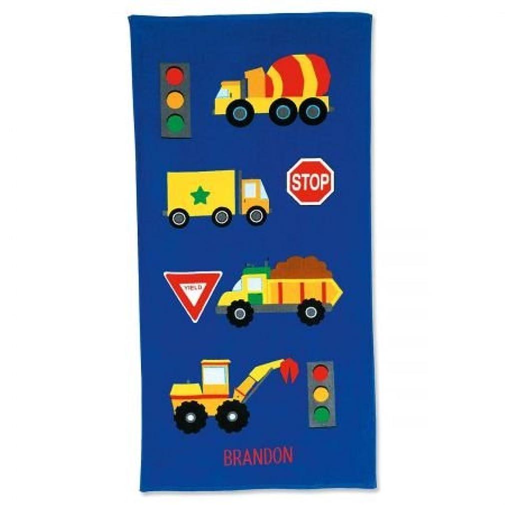 ゾーンホイールレールPersonalized Kids Truckコットンビーチタオル