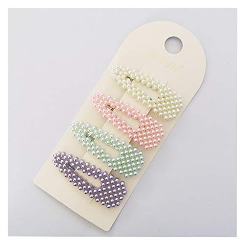 Accesorios para el Cabello 4-10Pcs / Clip Set Corea del Color del Pelo Clips de los Pernos de Pelo Pelo de Las Muchachas Pendientes Dama 2020 (Metal Color : 2)