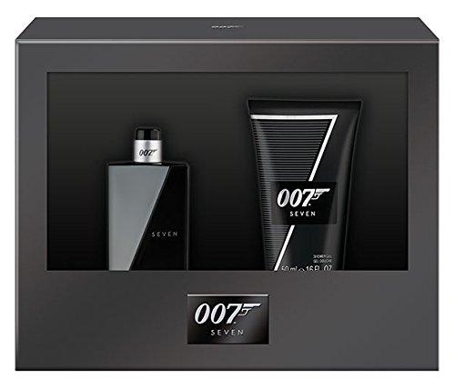 James Bond 007 Seven Geschenkset für Ihn (Eau de Toilette Natural Spray 30ml + Duschgel 50ml)
