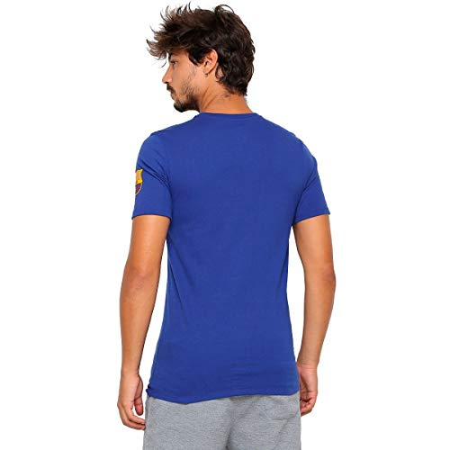 NIKE FCB M Nk Large Swoosh Camiseta de Manga Corta, Hombre, Deep...