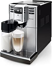 Saeco HD8917/01 Incanto Kaffeevollautomat (1850 Watt, AquaClean, integrierte Milchkaraffe) silber
