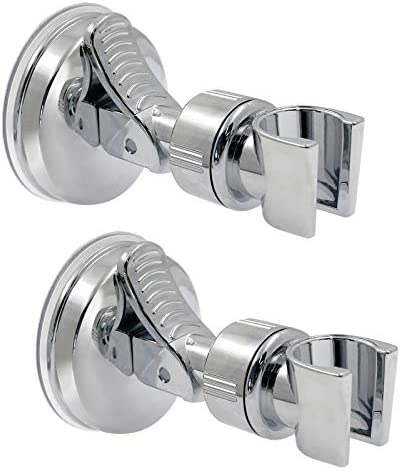 BokWin 2Pcs Suction Cup Shower Head Holder Handheld Shower Head Bracket Removable Handheld Showerhead product image