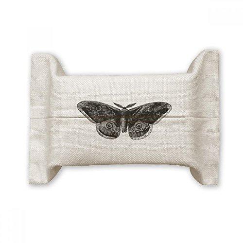 Doe-het-zelf stof, zwart, vlinderkite, katoen, linnen, houder, opslag, papier, cadeaupapier, houder, 17 x 27 cm