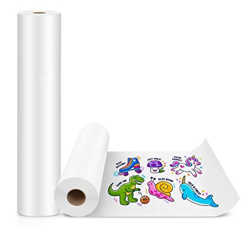 KAVAVO 2 Pcs Weiße Papierrolle, 50cm x 5m, weiße Handwerkspapierrolle, ideal für Staffeleipapier, Bulletin Board-Papier, Wandkunst, Geschenkpapier.(Paper-2 Pcs)