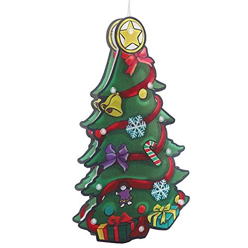Luces De Navidad, Diseño De Ventosa Con Luz LED Decorativas Para Interiores Para Navidad Para Escaparates Interiores