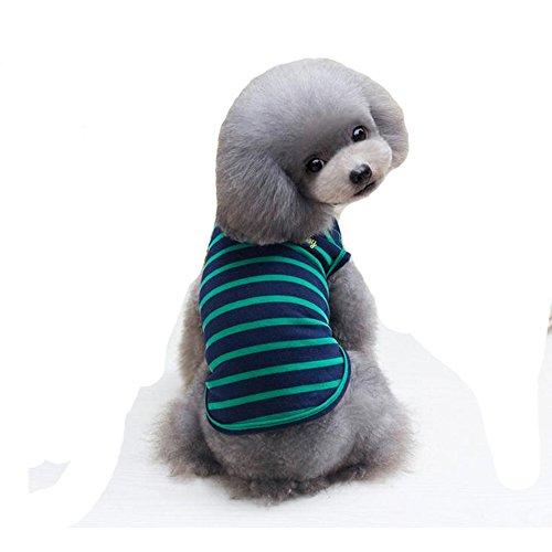 E-Fly 春夏 犬 Tシャツ かわいい 袖なし ストライプ ドッグウェア 犬の服 小型犬 チワワ プードル マルチーズ ヨークシャーテリア