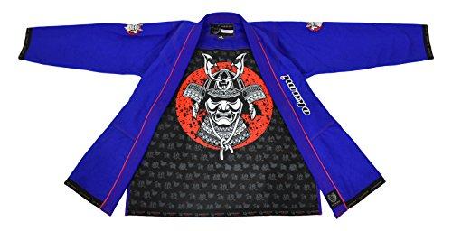OKAMI Fightgear Hombre Sentoki Azul BJJ Gi, Hombre, Color Azul, tamaño A2