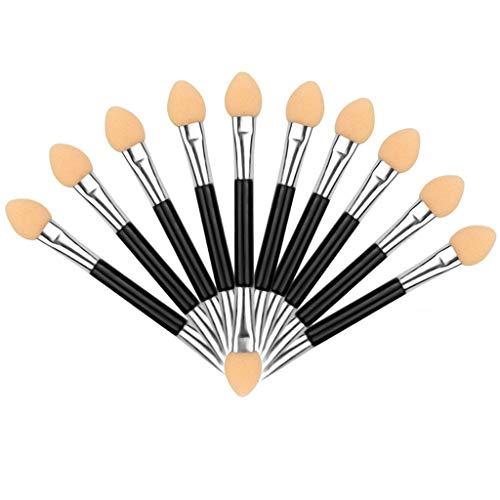 10pcs maquillage double extrémité fard à paupières eyeliner pinceau éponge applicateur outil
