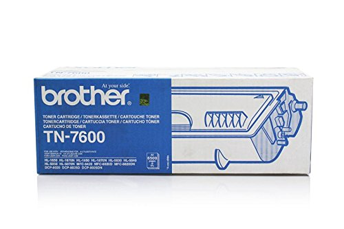 Original Brother TN-7600 tóner (negro, aprox. 6.500 Páginas) para DCP 8020, 8025; HL 1600, 1630, 1640, 1650, 1670, 1850, 1870, 5030, 5040, 5050, 5070; MFC 8420, 8820