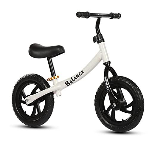 LLF Bicicletas sin Pedales, Bicicleta De Equilibrio para Niños para Niños GIRS 2 3 4 5 Años Sin Pedaleo Pedal Balance De Equilibrio Deportivo Bicicleta para Niños Pequeños(Color:Blanco)