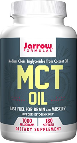Jarrow Formulas MCT Oil Softgels, Supports Brain and Muscles, 1000mg, 180 Count