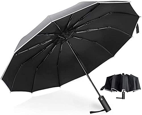 Paraguas plegable 12 costillas a prueba de viento compacto paraguas de viaje impermeable apertura automática/cierre paraguas hombres y mujeres