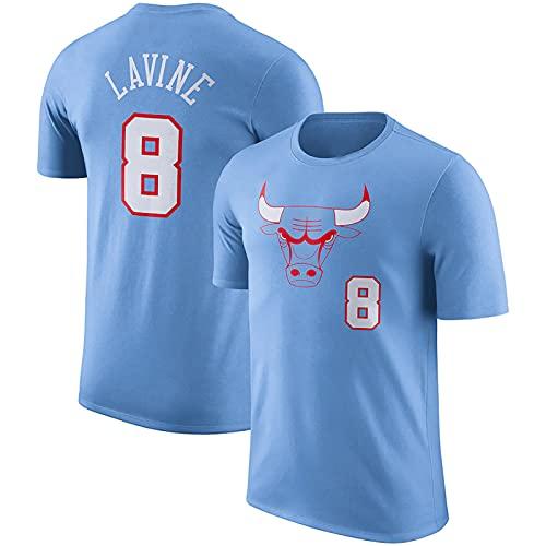 LGLE # 8 Bulls LaVine, Camisetas de Baloncesto para Hombres y Mujeres, Camisetas de Baloncesto para Uniformes de Baloncesto, Camisetas para Hombres,Blue,XL